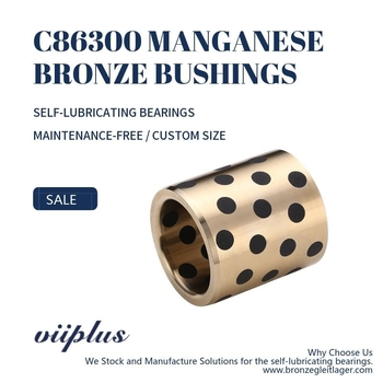 C86300 Manganese Bronze Bushings Metric Graphite Plugged Sleeve | 160 mm ID x 180 mm OD x 100 mm Long - Bronzesleeve.com
