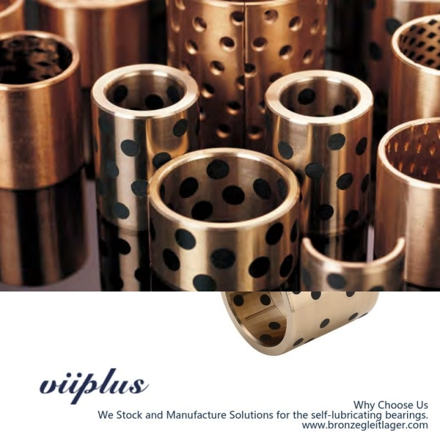 C86300 Manganese Bronze Bushings Metric Graphite Plugged Sleeve | 20 mm ID x 20 mm OD x 30 mm Long
