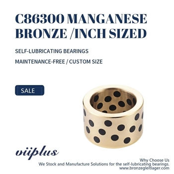"C86300 Manganese Bronze Bushings Inch Sized Graphite Plugged Sleeve | 1"" ID x 1-3/8"" OD x 1"" Long"