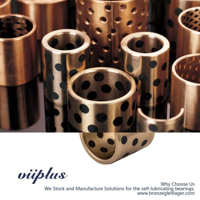 "C86300 Manganese Bronze Bushings Inch Sized Graphite Plugged Sleeve | 1"" ID x 1-1/2"" OD x 2"" Long"