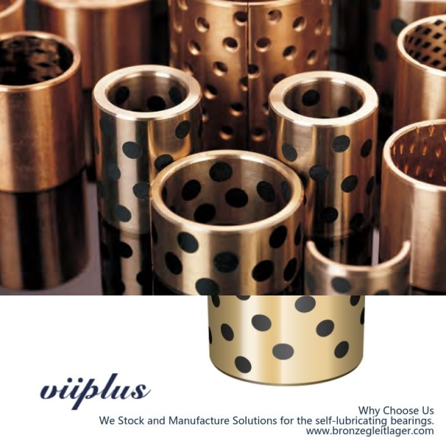 C86300 Manganese Bronze Bushings Metric Graphite Plugged Sleeve | 40 mm ID x 50 mm OD x 40 mm Long